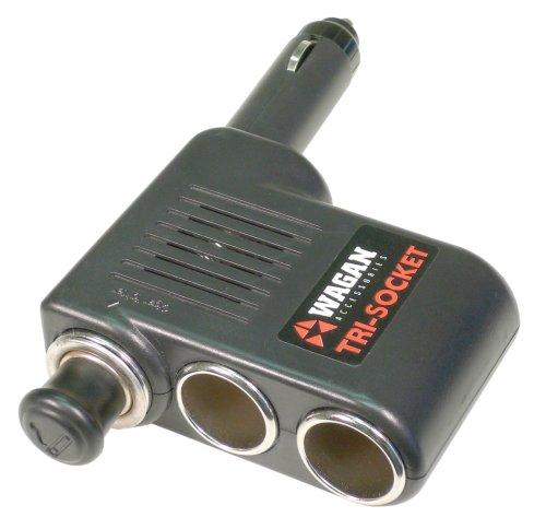 WAGAN 3-fach KFZ 12V Adapter / Verteiler für den Zigarettenanzünder, Schwarz