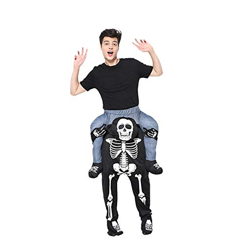 Concey Piggyback Kostüme Lustige Halloween-Kostüme für Erwachsene Fahrt auf der Schulter Kostüm Trage Mich Kostüm Skeleton Magic Pants Fahrt auf der Schulter Adult Pants Animal Fancy Dress (Party Animal Fancy Dress Kostüm)