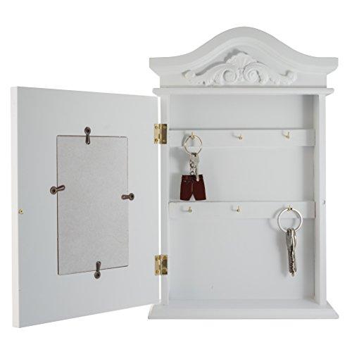 elbmöbel Schlüsselkasten mit Foto und Bilderrahmen in weiß antik aus Holz - 6