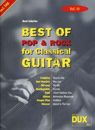 Best of Pop & Rock for Classical Guitar Solf. & Tab Vol.10