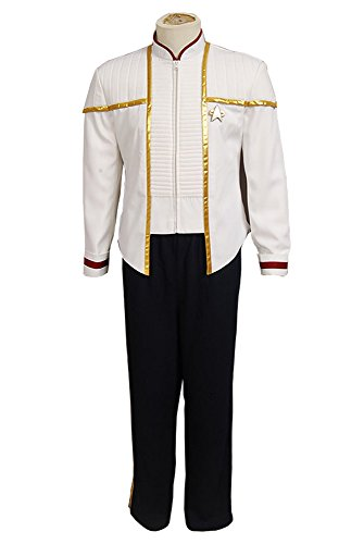 MingoTor Star Trek Insurrection NEM Nemesis Voyager Captain Siskoesis White Mess Dress Uniform Cosplay Kostüm Herren L