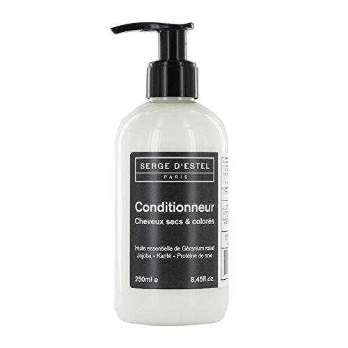 Apres Shampoing Sans Sulfate Cheveux Secs, Colorés 250ml. Géranium Rosat, Protéine de Soie. Apres Shampooing Sans Sulfate Cheveux Colorés Cheveux Secs Non Testé sur les Animaux.