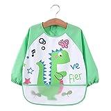 DKASA - Grembiulino impermeabile per bambini, unisex, con maniche lunghe e allacciatura sulla schiena, per dipingere, giocare e mangiare