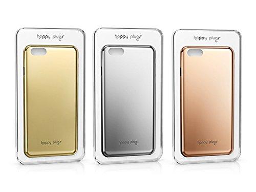 Happy Plugs Deluxe Slim Smartphone Hülle Case Cover Kompatibel mit Apple iPhone 6 und 6S  - Roségold Silber