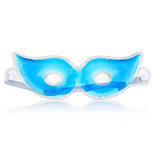 EMVANV Eis-Gel-Augenmaske reduziert dunkle Augenringe und Schlaffalten, kalte Massage Blender Augenmaske, blau, Free Size -