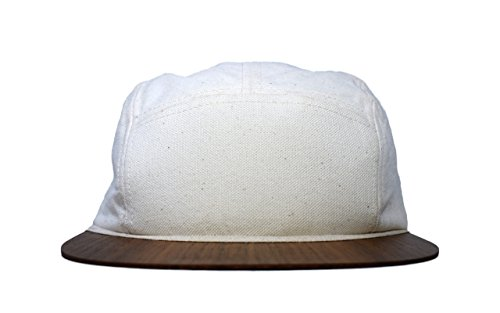 Cap weiß feinster Canvas mit edlem Holzschild - Made in Germany - Unisex 5Panel - Sehr leicht & bequem - One size fits all - Snapback | Lou-i Kappe Frauen Xl-sonnenhut