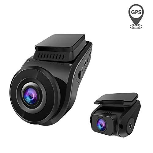 VANTRUE S1 Dual 1080P Dual Lens Superkondensator Dashcam,4K 2880x 2160P vorne, Auto Kamera GPS Eingebaut, Sony Sternenlicht Nachtsicht, 2 Zoll 330° Autokamera Dash Cam, Parkmodus G Sensor, Max. 256GB