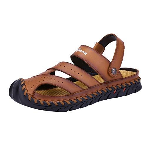 Madmoon Herren Männer Sommer große Rutschfeste Sandalen Trend Lazy Beach Schuhe Casual Home Schuhe Outdoor Geschlossene Flip Flops Männer Pantoffeln Strand Wandersandale Trekkingsandalen