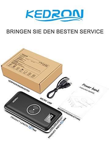 KEDRON Express E1 Cargador Portátil Batería Externa 24000mAh...