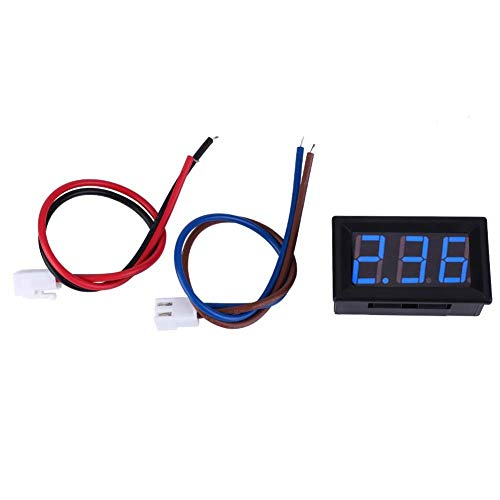 Digital Amperemeter, 0,56 Zoll LED Anzeige Amperemeter Amp Testing Meter, DC Strom Mess Feld 3 Stellige Amp Gauge 0-10A(Blau) Dc Amp Meter