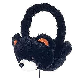 MSE KDZ Kids Tablet Over-Ear Headphones with Furry Bear Design