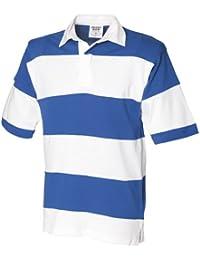 Front Row - Polo de rugby rayé à manches courtes 100% coton - Homme