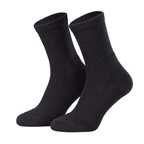 Tobeni 3 paia di calze da uomo cotone lavorato con tallone e punta rinforzati Colore Nero Taglia 47 50