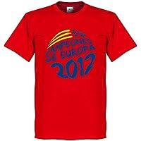 Retake 2012 Spanien Campeones De Europa Circle Grafik T-Shirt - rot