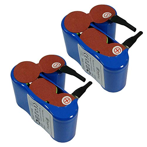 2x Trade-Shop Premium Ni-MH Akku 4,8V / 4500mAh / 22Wh für Vileda AS-193E9A ersetzt 4SC3000 Akku-Besen