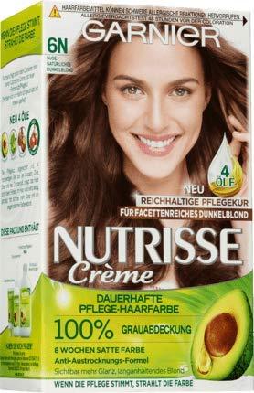 Garnier Nutrisse Coloration Nude Naturel Blond Foncé 6N 1 pièce (1 Pack)