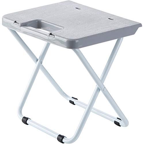 2 Stück tragbare Klappstuhl, Mini, schnell Klappstuhl, geringes Gewicht, Starke Tragfähigkeit, leicht zu tragen, geeignet für den Heimgebrauch, im Freien -