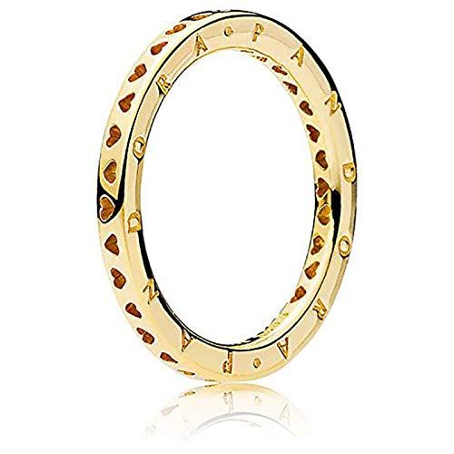 Pandora Ring 167134-54 Signature Hearts of Gr 54