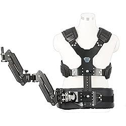 Brazo Doble Articulado & Chaleco Movo MC50 para Sistema Estabilizador de Vídeo Portátil con Mangos de 12mm o 15mm
