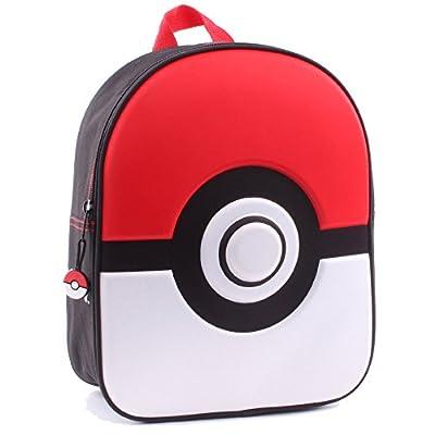 """Pokemon 160-7983 31 cm""""You Play"""" Poke Ball 3D Junior Backpack - childrens-backpacks"""