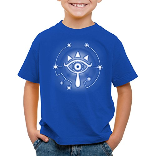 A.N.T. Sheikah T-Shirt für Kinder wild switch the breath of snes zelda ocarina link, Farbe:Blau;Größe:164