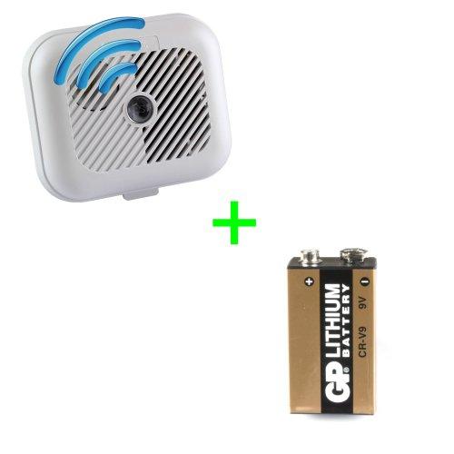 EI3100RF Ionisation Radio-Interlinked Smoke Alarm with 9V Lithium Battery Upgrade