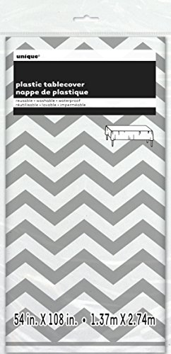 (Unique Party Supplies Kunststoff-Tischdecke mit Chevron-Muster 274 x 137 cm)
