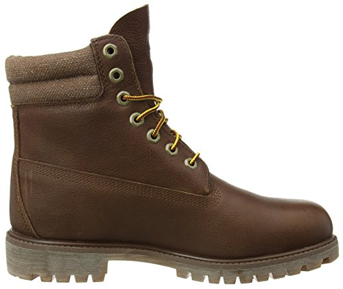 Timberland 6 in Classic Boot_6 in Double Collar Boot Herren Kurzschaft Stiefel Braun (Brown FG with Canvas)