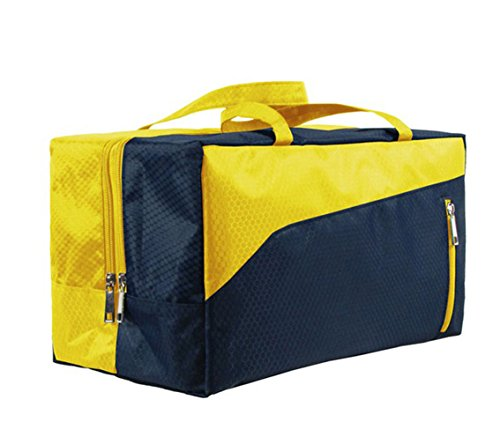 Swiming Wet Dry separato Tote Handle bag borsa da viaggio per nuoto spiaggia palestra sport impermeabile grande capacità, Green Yellow