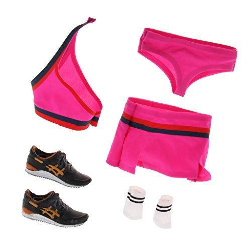 ader Team Uniform & Sportschuhe Outfit Für 12'' Weibliche Action Figur Körper - Rosa (Cheerleader Outfits Für Die Kinder)