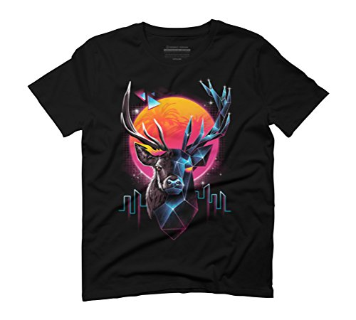 Rad Stag Men's Graphic T-Shirt - Design By Humans Black