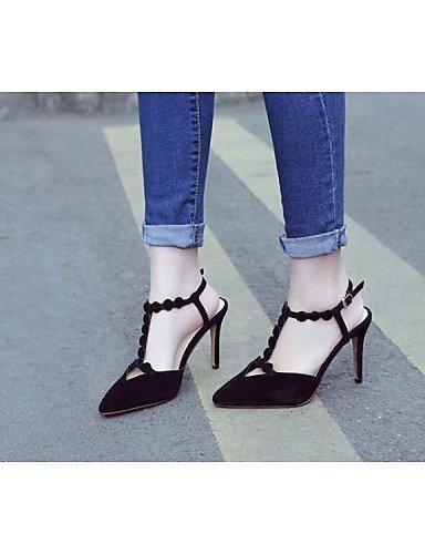 UWSZZ Die Sandalen elegante Comfort Schuhe Frau - Schuhe - Büro und Arbeit/casual/formellen - Fersen/Bequem/Innovative/mit Gürtel/Slave/EIN Black