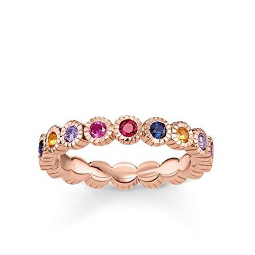 Thomas Sabo Damen-Ringe 925 Sterling Silber Künstliche Perle \'- Ringgröße 52 (16.6) TR2148-068-7-52