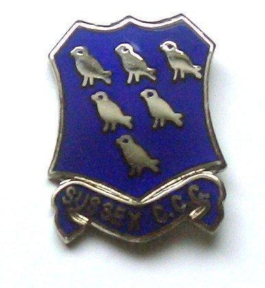 Sussex c.c.c Emaille Pin-Anstecker