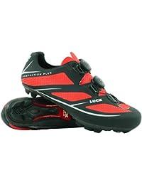 zapatilla de ciclismo LUCK AVATAR 7.0 ,serie profesional LUCK , con doble suela de carbono y doble sistema rotativo de precisión. (rojo, 39)