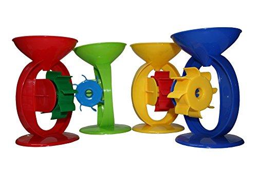 Preisvergleich Produktbild Sand-/Wassermühle mit 1 Rad, Strandspielzeug, Sandkastenspielzeug, für Kinder, verschiedene Farben (Rot)