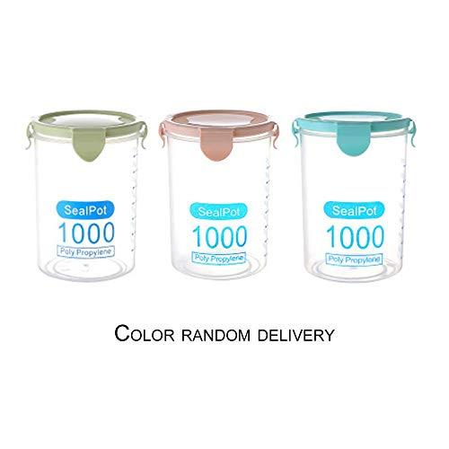 CHOULI Plastic Storage Jars Food Storage Bottle Leakproof Sealed Kitchen Storage Box Randomly Delivered 1000ML -
