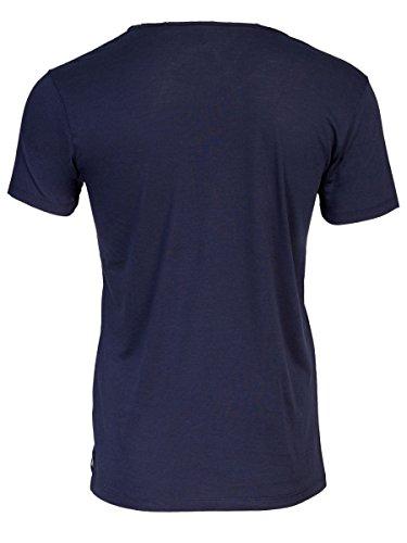 TREVOR'S KENO Herren T-Shirt mit V-Ausschnitt aus Lyocell und Bio-Baumwolle - soziale fair trade Kleidung, Mode vegan und nachhaltig Color midnight, Size S - 2