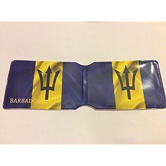 Barbados Flagge Oyster Karte Halter