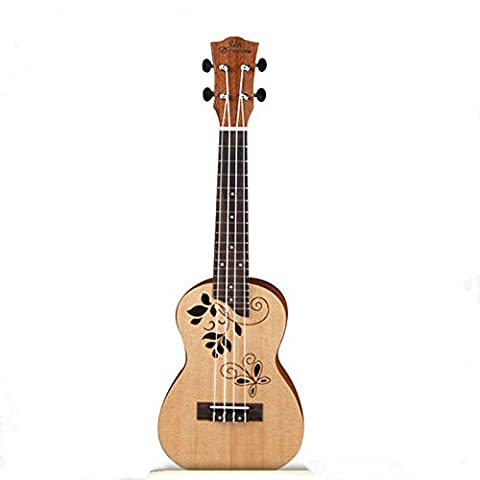 Laser à découper Motif uklele 61cm quatre guitare à cordes Hawaii Petit quatre Luth à corde - Carving Capo