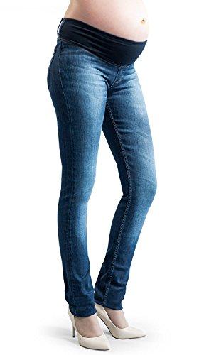 Jeans premaman, con elastico in vita e morbido sul pancione,