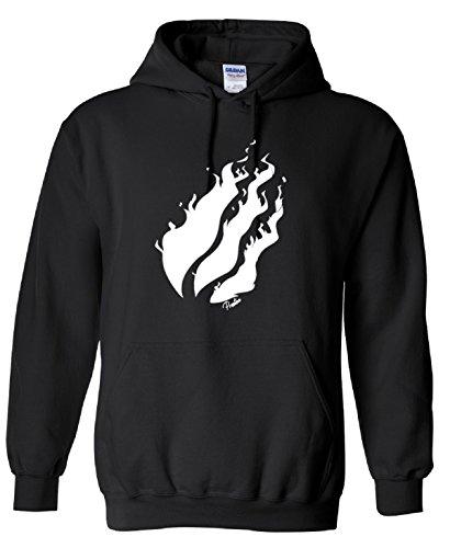 000552 PrestonPlayz White,Black Flame Youtuber,Hoodie,80% Cotton,20% Polyester Men