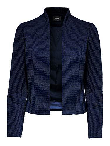 ONLY Damen Anzugjacke onlLINK Ricks L/S Blazer CC TLR Blau (Black Iris Detail:Melange), Herstellergröße:38
