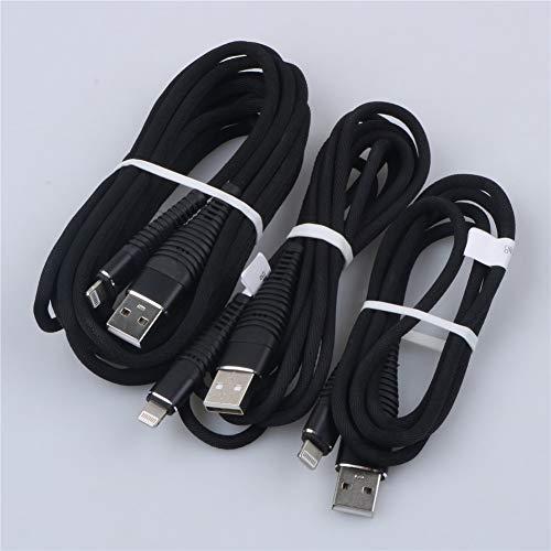 Interesting 3Pack Kompatibel für iPhone 8, 8 Plus, 7, 7 Plus, 6S, 6 Plus, 5S, 5, iPod Kabel- (3 + 6 + 9) FT Nylon Geflochtene Ladekabel Datensynchronisation Ladekabel zu USB Kabel (Schwarz) Ipod Nano Mic