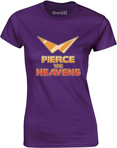 Brand88 - Pierce the Heavens, Gedruckt Frauen T-Shirt Lila/Transfer