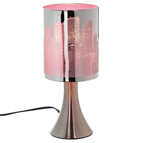 Atmosphera Lampe à Pied New York Touch - Métal - Rose