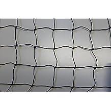 Volierennetz Breite 10 m Länge wählbar Tiergehege Hühnerauslauf schwarz Masche 5 cm - Stärke: 1,2 mm