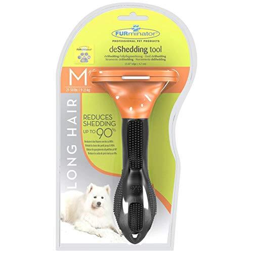 CitySales Furminator Outil Professionnel de Pet Products démêlage Brosse à Cheveux Longs pour Chiens de Taille Moyenne 20-22,7Kilogram