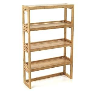 danong tag re de salle de bains en bambou petite profondeur marron cuisine maison. Black Bedroom Furniture Sets. Home Design Ideas