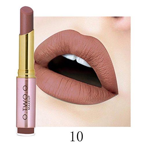 Huihong O.TWO.O 20 Farben matt Lippenstift wasserdicht sexy Lippenstift  feuchtigkeitsspendend  Lange andauernd (A10#)